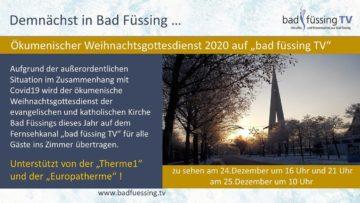 Weihnachtsgottesdienst 2020 aus Bad Füssing